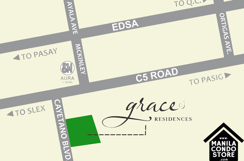 SMDC GRACE Residences Taguig Affordable Condo Location Map