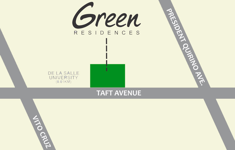 SMDC GREEN Residences De La Salle University Taft Manila Condo Location Map