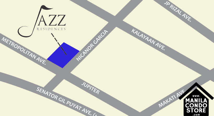 SMDC JAZZ Residences Bel Air Makati Condo Location Map