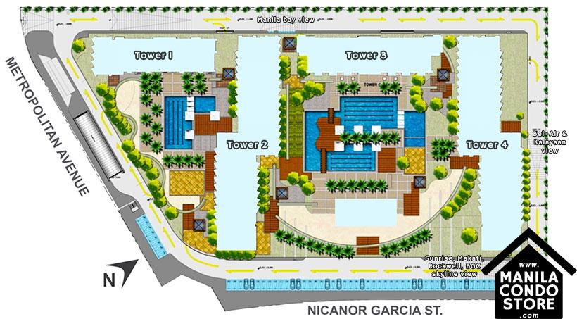SMDC JAZZ Residences Bel Air Makati Condo Site Development Plan