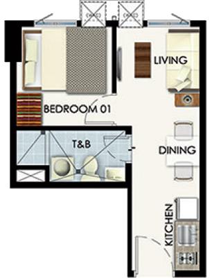 SMDC Leaf Residences Susana Heights Muntinlupa Condo 1-bedroom unit