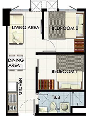 SMDC Leaf Residences Susana Heights Muntinlupa Condo 2-bedroom unit