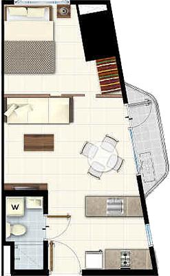 SMDC LIGHT 2 Residences MRT EDSA Boni Mandaluyong Condo 1-bedroom end unit with balcony