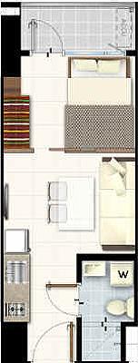 SMDC LIGHT 2 Residences MRT EDSA Boni Mandaluyong Condo 1-bedroom unit with balcony