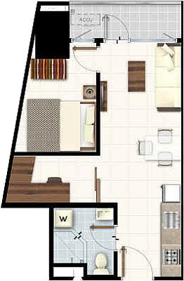 SMDC LIGHT 2 Residences MRT EDSA Boni Mandaluyong Condo 1-bedroom unit with den with balcony