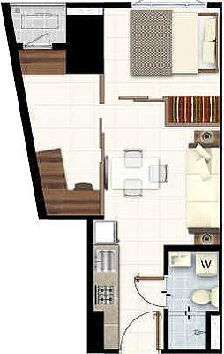 SMDC LIGHT 2 Residences MRT EDSA Boni Mandaluyong Condo 1-bedroom unit with den