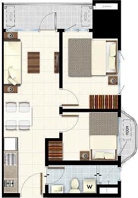 SMDC LIGHT 2 Residences MRT EDSA Boni Mandaluyong Condo 2-bedroom end unit with balcony