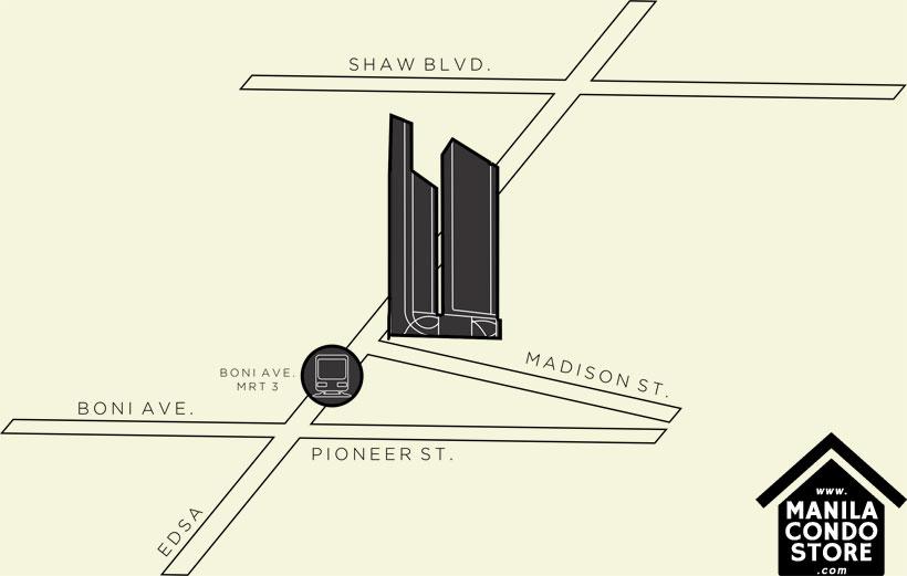 SMDC LIGHT 2 Residences MRT EDSA Boni Mandaluyong Condo Location Map