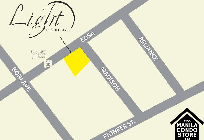 SMDC Light Residences - Mandaluyong map