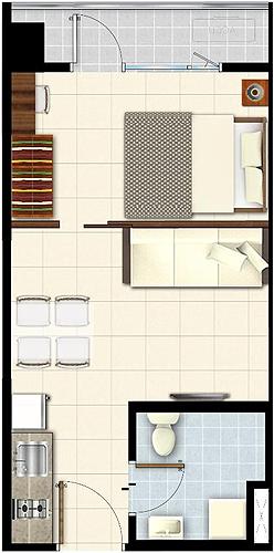 SMDC LUSH Residences San Antonio Makati Condo 1-bedroom end unit with balcony