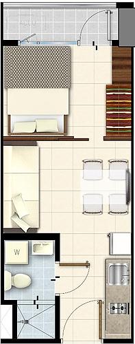 SMDC LUSH Residences San Antonio Makati Condo 1-bedroom unit with balcony