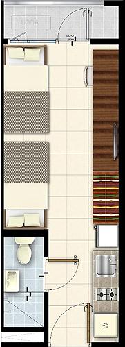 SMDC LUSH Residences San Antonio Makati Condo Studio unit with balcony
