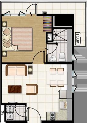 SMDC MEZZA 2 Residences UERM Sta Mesa Condo 1-bedroom end unit with balcony