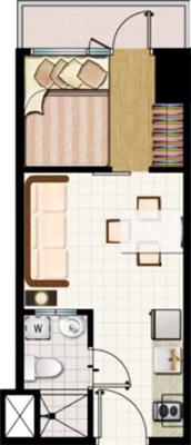 SMDC MEZZA 2 Residences UERM Sta Mesa Condo 1-bedroom unit with balcony