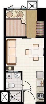 SMDC MEZZA 2 Residences UERM Sta Mesa Condo 1-bedroom