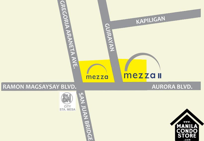 SMDC MEZZA 2 Residences UERM Sta Mesa Condo Location Map