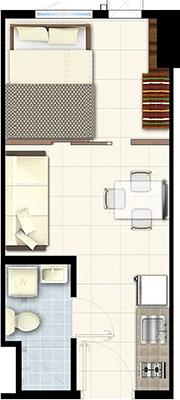 SMDC South 2 Residences Southmall Las Pinas Condo 1-bedroom unit