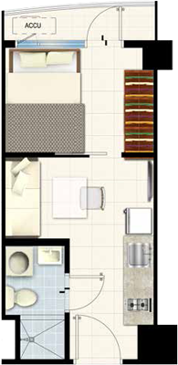 SMDC SOUTH Residences Southmall Las Pinas Condo 1-bedroom unit with balcony