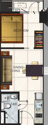 SMDC SPRING Residences Bicutan Paranaque Condo 1-bedroom unit with balcony