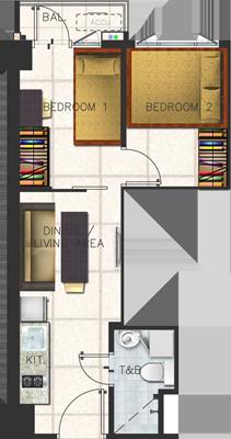SMDC SPRING Residences Bicutan Paranaque Condo Family suite A with balcony