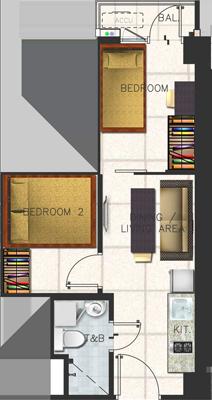 SMDC SPRING Residences Bicutan Paranaque Condo Family suite B with balcony