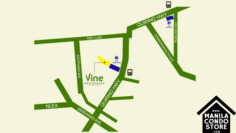 SMDC VINE Residences Novaliches Quezon City Condo Location Map