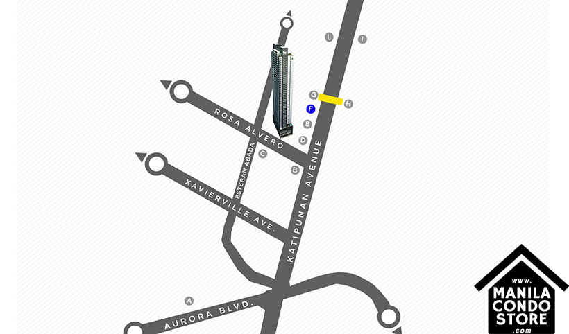 Torre Lorenzo Loyola Heights Quezon City Condo Location Map