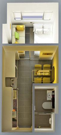 SMDC Berkeley Residences Katipunan Quezon City Condo 1-bedroom unit