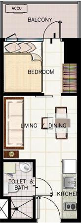 SMDC Green Residences La Salle Taft Condo 1-bedroom unit with balcony