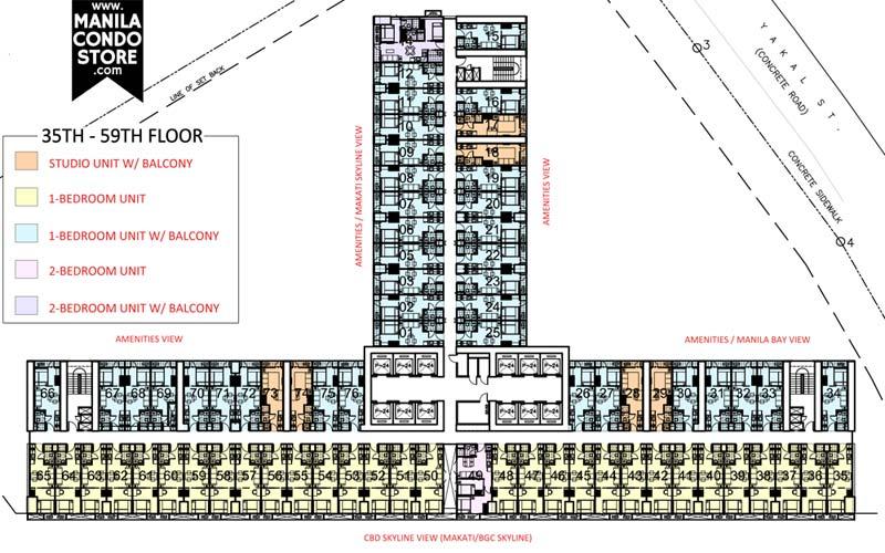 SMDC Air Residences Makati Condo Floor Plan