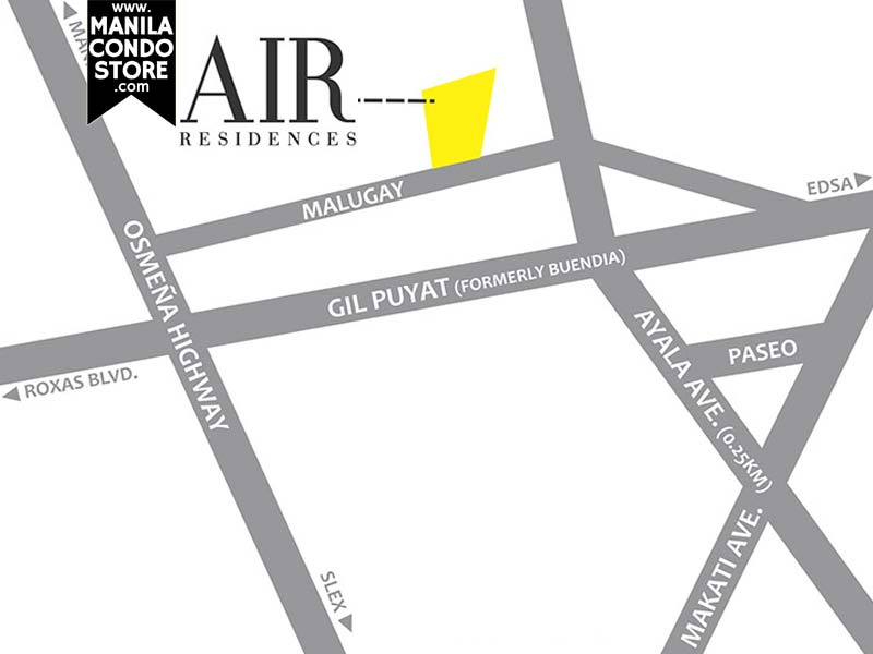SMDC Air Residences Makati Condo Location Map