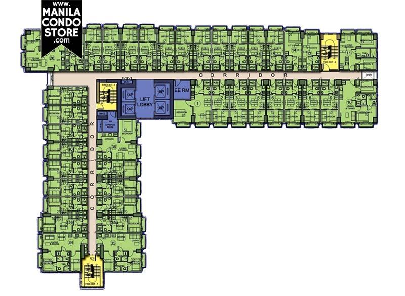 SMDC Berkeley Residences Quezon City Condo Floor Plan