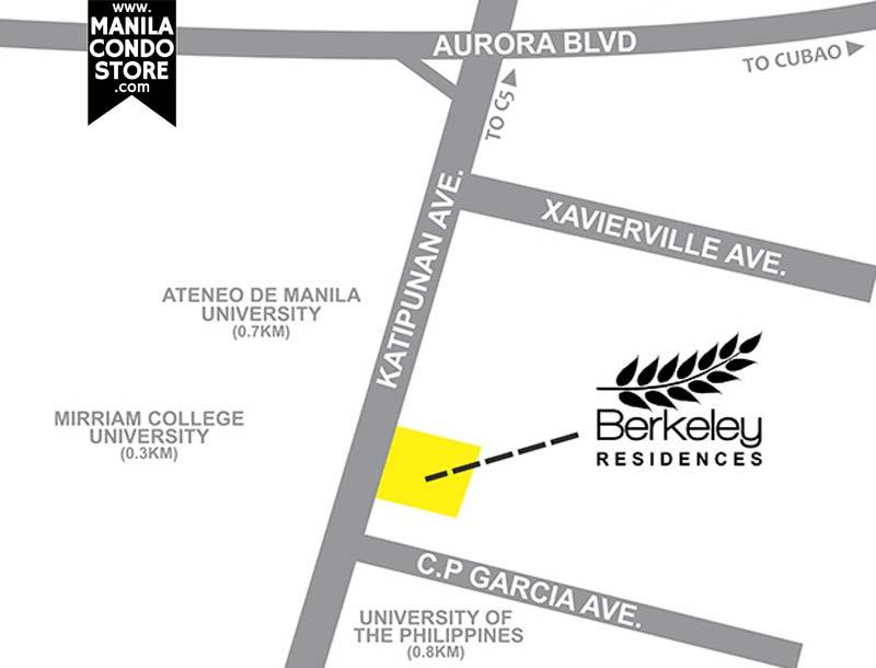 SMDC Berkeley Residences Quezon City Condo Location Map