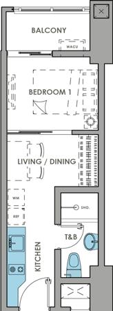 DMCI Homes Brixton Place Kapitolyo Condo 1-bedroom with balcony A