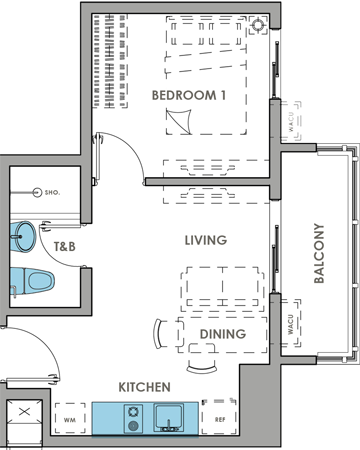 DMCI Homes Brixton Place Kapitolyo Condo 1-bedroom with balcony B