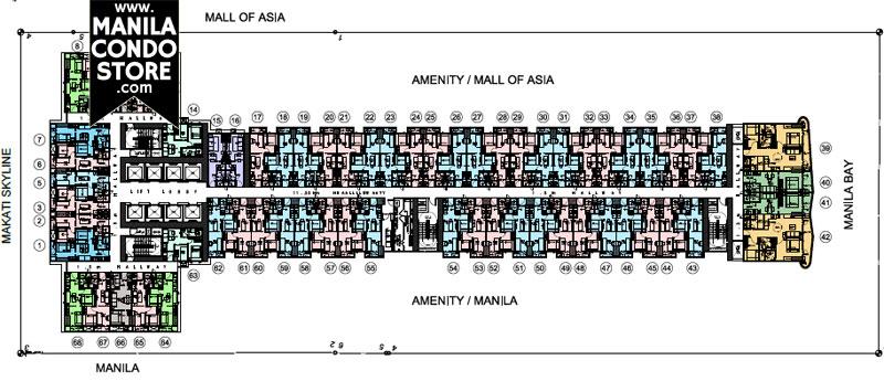 SMDC Coast Residences Pasay Condo Floor Plan