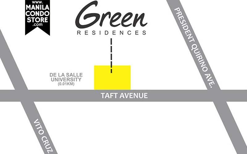 SMDC Green Residences Manila Condo Location Map