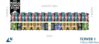 SMDC Light Residences Mandaluyong Condo  Tower 1 Floor Plan