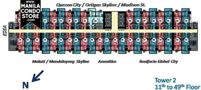 SMDC Light Residences Mandaluyong Condo  Tower 2 Floor Plan