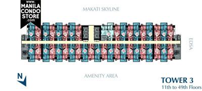 SMDC Light Residences Mandaluyong Condo  Tower 3 Floor Plan
