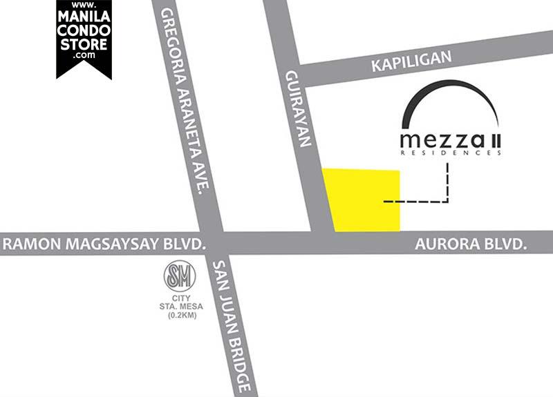 SMDC Mezza 2 Residences Quezon City Condo Location Map