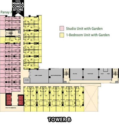 SMDC MPlace South Triangle Quezon City Condo Tower B Floor Plan