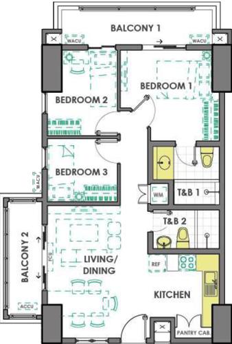 DMCI Homes Prisma Residences Pasig Condo 3-bedroom