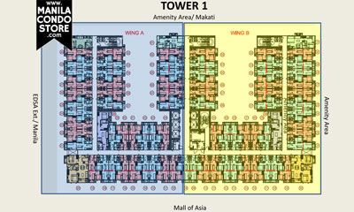 SMDC S Residences Mall of Asia Condo Tower 1 Floor Plan