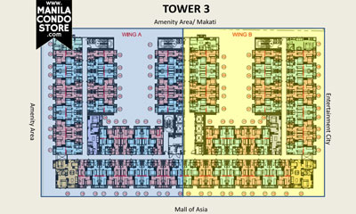 SMDC S Residences Mall of Asia Condo Tower 3 Floor Plan