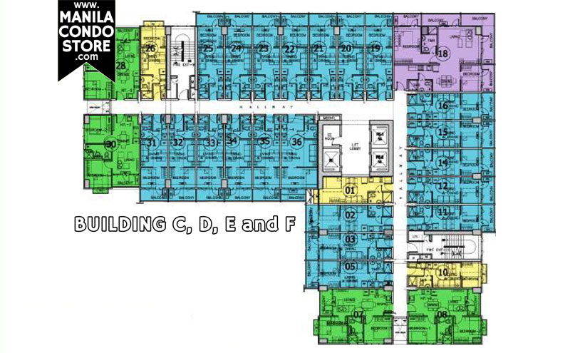 SMDC Sea Residences Mall of Asia Condo Floor Plan