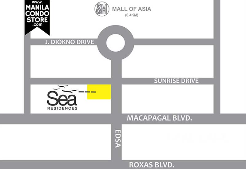 SMDC Sea Residences Mall of Asia Condo Location Map