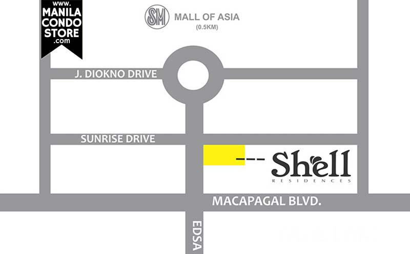 SMDC Shell Residences Mall of Asia Condo Location Map