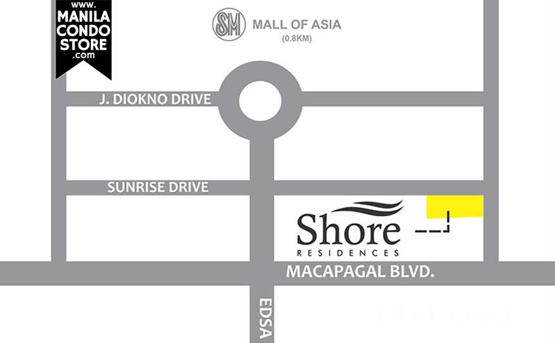 SMDC Shore Residences Mall of Asia Condo Location Map