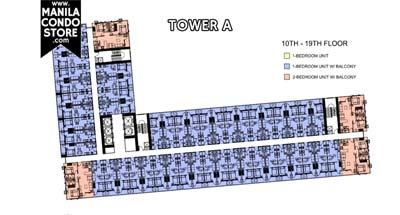 SMDC Shore Residences Mall of Asia Condo Tower A Floor Plan